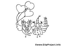 Hiboux coloriage clip art gratuit