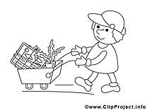 Jardinier clipart à imprimer dessins gratuits
