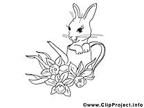 Lièvre dessin gratuit à imprimer
