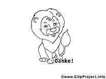 Lion image à colorier images cliparts