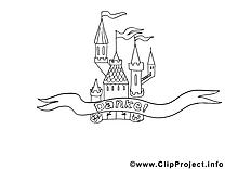 Merci château clipart à imprimer dessins gratuits