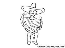 Mexicain coloriage cliparts à télécharger