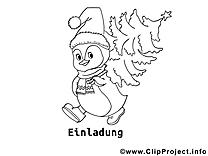 Pingouin dessins à colorier clipart gratuit