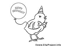 Poussin clipart à imprimer dessins gratuits