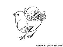 Poussin image à colorier cliparts