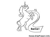 Unicorne dessin à imprimer clip arts gratuits