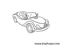 Voiture image à colorier illustration