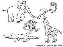 Zoo clipart à imprimer images