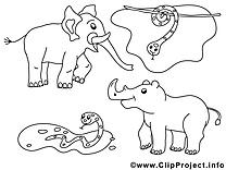 Zoo dessin à imprimer clip arts gratuits