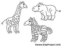Zoo dessins à colorier clipart gratuit