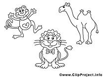 Zoo illustration à colorier gratuite