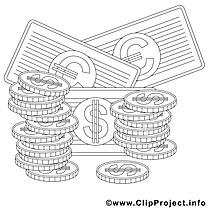 Argent clip arts – Économie à imprimer