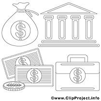 Banque images gratuites – Économie à colorier