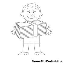 Banquier clip arts – Économie à imprimer