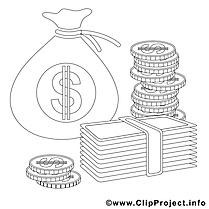 Billets illustration – Économie à imprimer