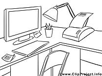 Bureau dessins gratuits – Économie à colorier