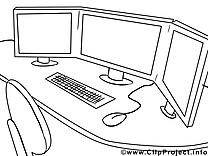 Bureau image gratuite – Économie à imprimer