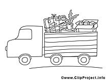 Camion images – Économie gratuit à imprimer