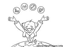 Chef illustration – Économie à imprimer