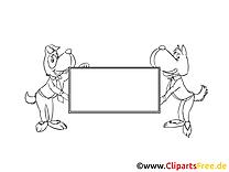 Chiens plan clipart – Économie dessins à colorier