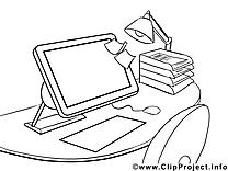Clip art ordinateur – Économie image à colorier