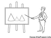Clip arts diagramme – Économie à imprimer