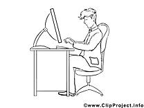 Cliparts gratuis travail – Économie à imprimer