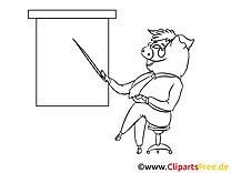 Cochon plan clip art gratuit – Économie à colorier