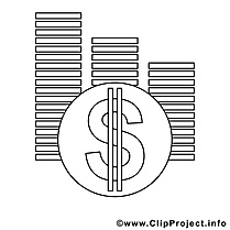 Coloriage dollar image à télécharger gratuite