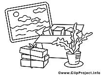 Déménagement illustration – Économie à imprimer