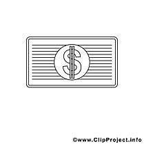 Dessin dollar – Économie gratuits à imprimer