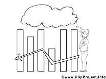 Diagramme clip arts – Économie à imprimer