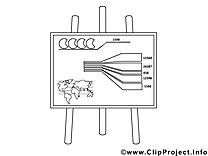 Diagramme dessin – Coloriage économie à télécharger