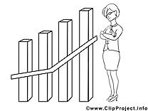 Diagramme femme clip arts – Économie à imprimer