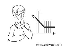 Diagramme illustration – Économie images à colorier