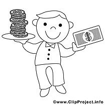 Économiste illustration – Économie à imprimer