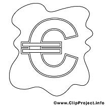Euro cliparts gratuis – Économie à imprimer