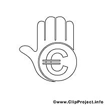 Euro images gratuites – Économie à colorier