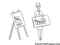 Femme d'affaire dessin – Économie gratuits à imprimer