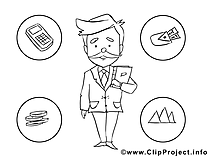 Illustration business – Économie à imprimer