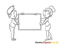 Illustration homme femme – Économie à imprimer