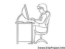 Image gratuite femme – Économie à colorier