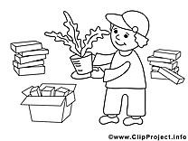 Jardinier clip art – Économie image à colorier