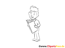 Livre homme cliparts gratuis – Économie à imprimer