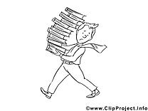 Livres dessin gratuit – Économie à colorier