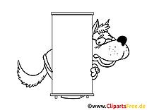 Loup plan dessin à télécharger – Économie à colorier