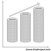 Monaies dessin à télécharger – Économie à colorier