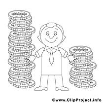 Monnaies image – Coloriage économie illustration