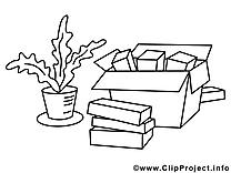Objects image – Coloriage économie illustration