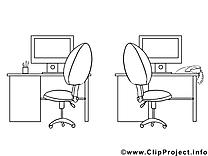 Office image gratuite – Économie à colorier